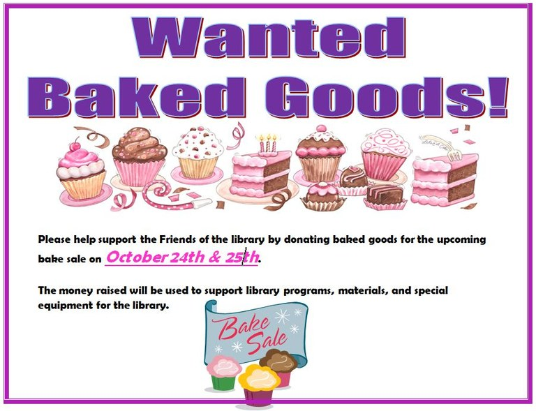 Baked Goods Wanted Fall 2019
